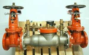 Ames Fire Sprinkler System Backflow Preventer Size 4