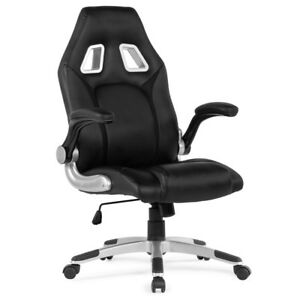 Executive Racing Office Chair Pu Leather Swivel Computer Desk Seat High back Bk