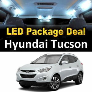 6x White Led Lights Interior Package Deal For 2010 2011 2012 2013 Hyundai Tucson