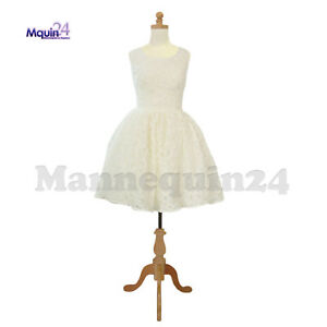 Kids Body Form Mannequin 11 12 Yr Child Torso Dress Form With Wooden Base