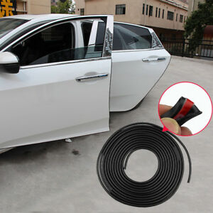 5m Black Car Door Moulding Rubber Scratch Protector Strip Edge Guard Trim Diy