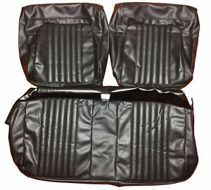 Seat Covers 1971 1972 Malibu Chevelle Front Bench Seats Upholstery Black Vinyl