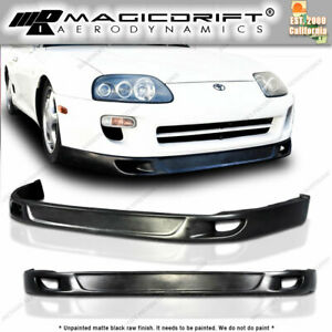 For 93 94 95 96 98 Toyota Supra Mk4 Front Bumper Lip Flat Trd2 V2 Low Side Style