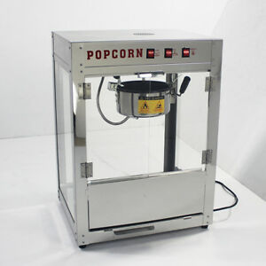 Pas 220v Electric Popcorn Machine Theatre Commercial Popper Maker Tabletop 8 Oz
