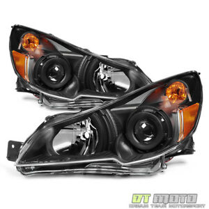 Black Design 2010 2014 Subaru Legacy Outback Headlights Headlamps Left Right