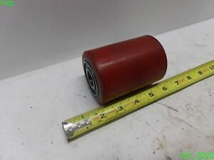 Qty 5 Red 2 3 4 Dia Conveyor Roller 3 3 4 Length Bearing Bore 13 16