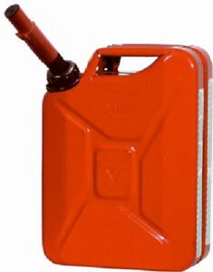 1 New Midwest Can Co 5 Gallon Red Metal Military Style Gas Can With Spout 5800
