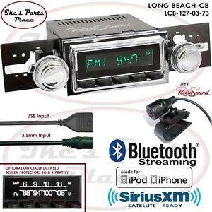Retrosound Long Beach Cb Radio Bluetooth Ipod Usb Mp3 3 5mm Aux In 127 03 Ford
