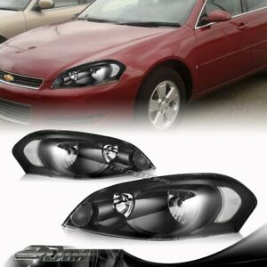 Black Housing Headlights Lamps For 2006 2013 Chevy Impala 2006 2007 Monte Carlo