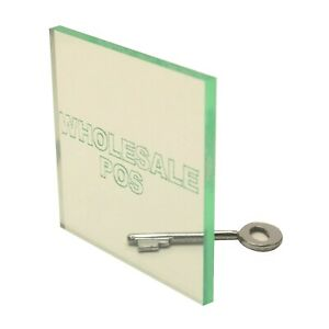 Glass Look Acrylic Perspex Sheet Plastic Material A5 A4 A3 3 5mm Glass Effect
