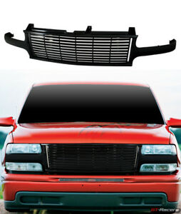 For 1999 2002 Chevy Silverado 1500 2500 Blk Horizontal Front Bumper Grill Grille