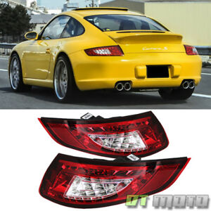 2005 2008 Porsche 911 997 Carrera 4 S 4s Red Lumileds Led Tail Lights Lamps Pair