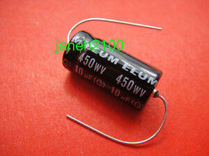 25p 450v 10uf 105c New Long Copper Leads Axial Electrolytic Capacitors Tube Amps