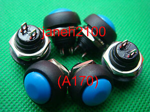 100pc Blue Momentary Off on Push Button Horn Switch b170 Ar