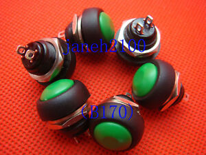 100pc Green Momentary Off on Push Button Horn Switch b170