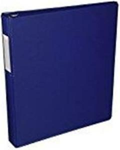 12 Samsill 1 Premium 3 Ring Binders Label Holder Blue Antimicrobial 14332 New