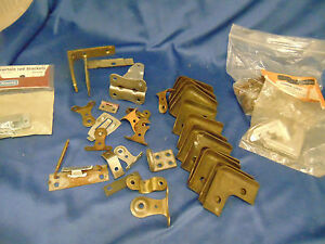 Lot Shelf Brackets Metal Plastic Corner Shelf Locks Home Projects Cabinet Repair