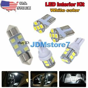 6x White Led Map Dome Light Interior Bulb Package Kit For 03 2013 Toyota Corolla