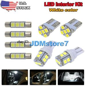 12x White Led Map Dome Interior Lights Package Kit For 2013 2017 Honda Accord