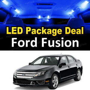11x Blue Led Lights Interior Package Deal For 2006 2010 2011 2012 Ford Fusion