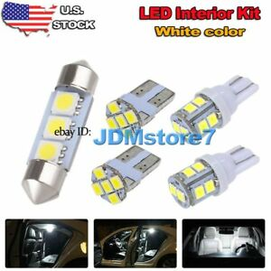 6x White Led Map Dome Light Interior Bulb Package Kit For 2007 2017 Jeep Patriot