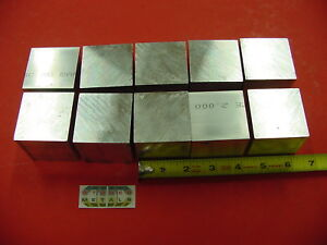 10 Pieces 2 X 2 X 2 Aluminum Square 6061 Flat Bar Solid T6511 New Mill Stock