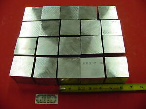 20 Pieces 2 X 2 X 2 Aluminum Square 6061 Flat Bar Solid T6511 New Mill Stock