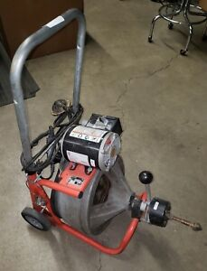 Ridgid K 400 Cable Drum Machine Drain Sewer Pipe Rooter Cleaner Cart Mount Used