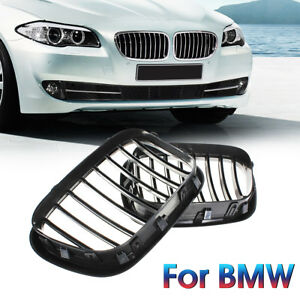 Black Front Center Grille For Bmw 00 03 X5 E53 Oem Replacement Grill Kidney Hood