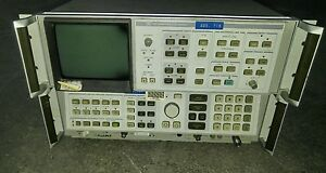 Hp Agilent 85662a 8568a Spectrum Analyzer Display Analyzer W Cables