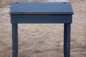 Primitive Painted Slant Top Desk Country Rustic Farmhouse Pine Early American
