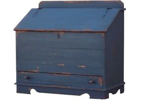 Country Blanket Chest Box Trunk Primitive Farmhouse Painted Rustic Pine Colonial