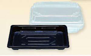 Huge Lot 9 Plastic Disposable Sushi Trays Food Containers Black 8 400 14 Cases