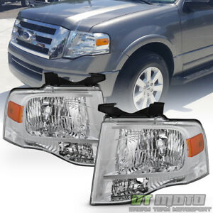 For 2007 2014 Ford Expedition Headlights Left right 07 14 Replacement Headlamps