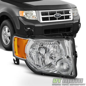 2008 2012 Ford Escape Headlight Headlamp Replacement 08 12 Right Passenger Side