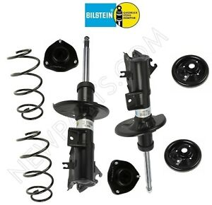For Volvo S40 V40 Twintube Front Strut Assemblies Coil Springs Seat Mount Kit
