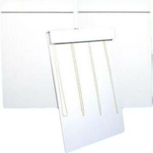 3 White Faux Leather 18 Hook Slatwall Necklace Displays