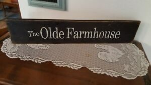Primitive Rustic Country Olde Farmhouse Sign