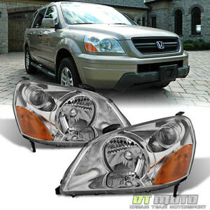 For 2003 2004 2005 Honda Pilot Headlights Headlamps Replacement 03 05 Left Right