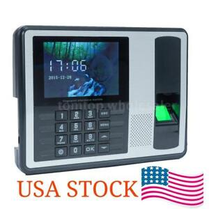 Biometric Fingerprint Password Time Attendance Clock Machine Check in Recorder