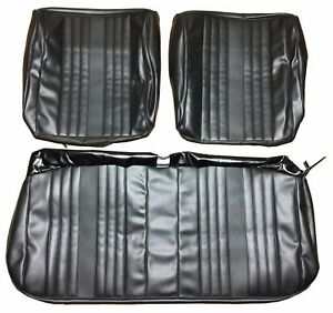 Seat Covers 1969 Malibu Chevelle Front Bench Seats Upholstery Black Vinyl