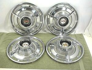 1963 Chevrolet Ss Spinner Hubcaps Flippers 3 Bar Impala Belair Biscayne 14 Inch