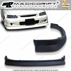 For 99 00 Honda Civic Ek2 3 4 Door K1 Drift Cs Style Jdm Front Bumper Lip