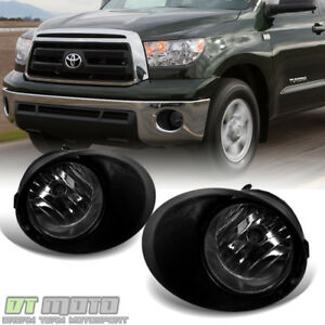 For Smoke 07 13 Toyota Tundra Chrome Bumper Fog Lights Switch Bulbs Left Right