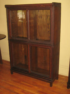 We Ship Danner Quartered Mission Oak Stacking Bookcase Book Shelf Cabinet