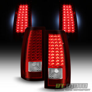 Red Clear 1999 2002 Chevy Silverado 1500 2500 3500 Led Tail Lights Brake Lamps
