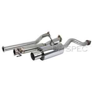 4 Tip Catback Exhaust System Muffler For 02 06 Acura Rsx Dc5 W Silencer
