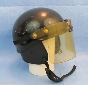Ase American Safety Equipment Police Motorcycle Helmet Black W buco Shield
