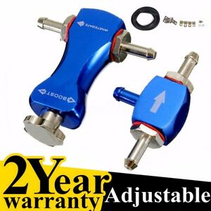 Blue Adjustable Bilateral Turbo Valve Manual Car Auto Boost Controller Booster