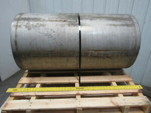 Stainless Steel 43 3 4 w X 24 d Conveyor Drum Drive Pulley 2 7 16 Keyed Bore